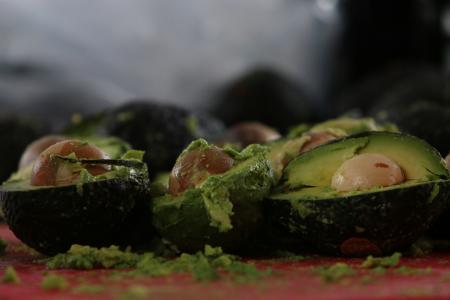 Avocados are pictured as volunteers from a culinary school attempt to set a new Guinness World Record for the largest serving of guacamole in Concepcion de Buenos Aires, Jalisco,