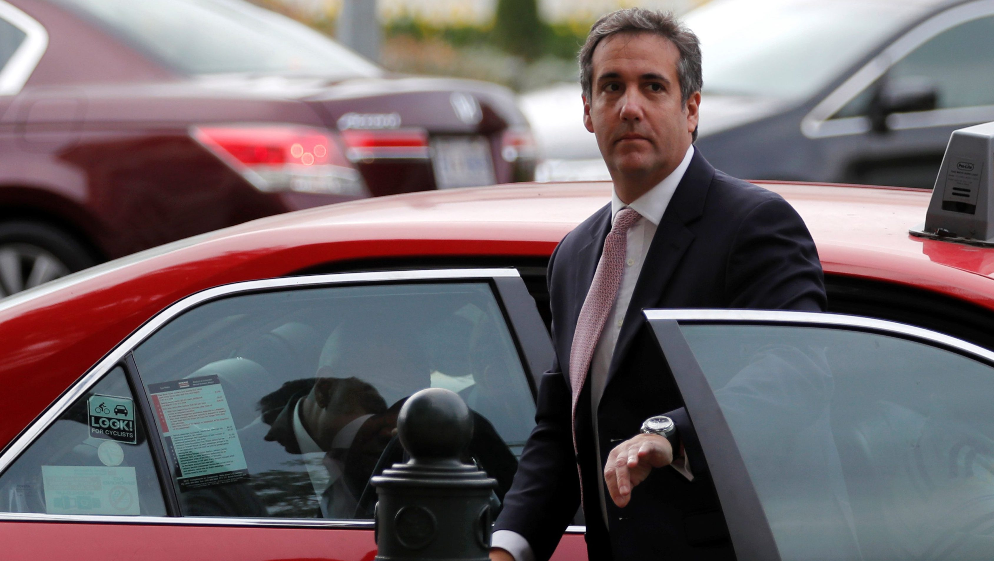 Michael Cohen, personal attorney for U.S. President Donald Trump, arrives to appear before Senate Intelligence Committee staff as the panel investigates alleged Russian interference in the 2016 U.S. presidential election, on Capitol Hill in Washington, U.S. September 19, 2017. REUTERS/Jonathan Ernst - RC1A228BE180