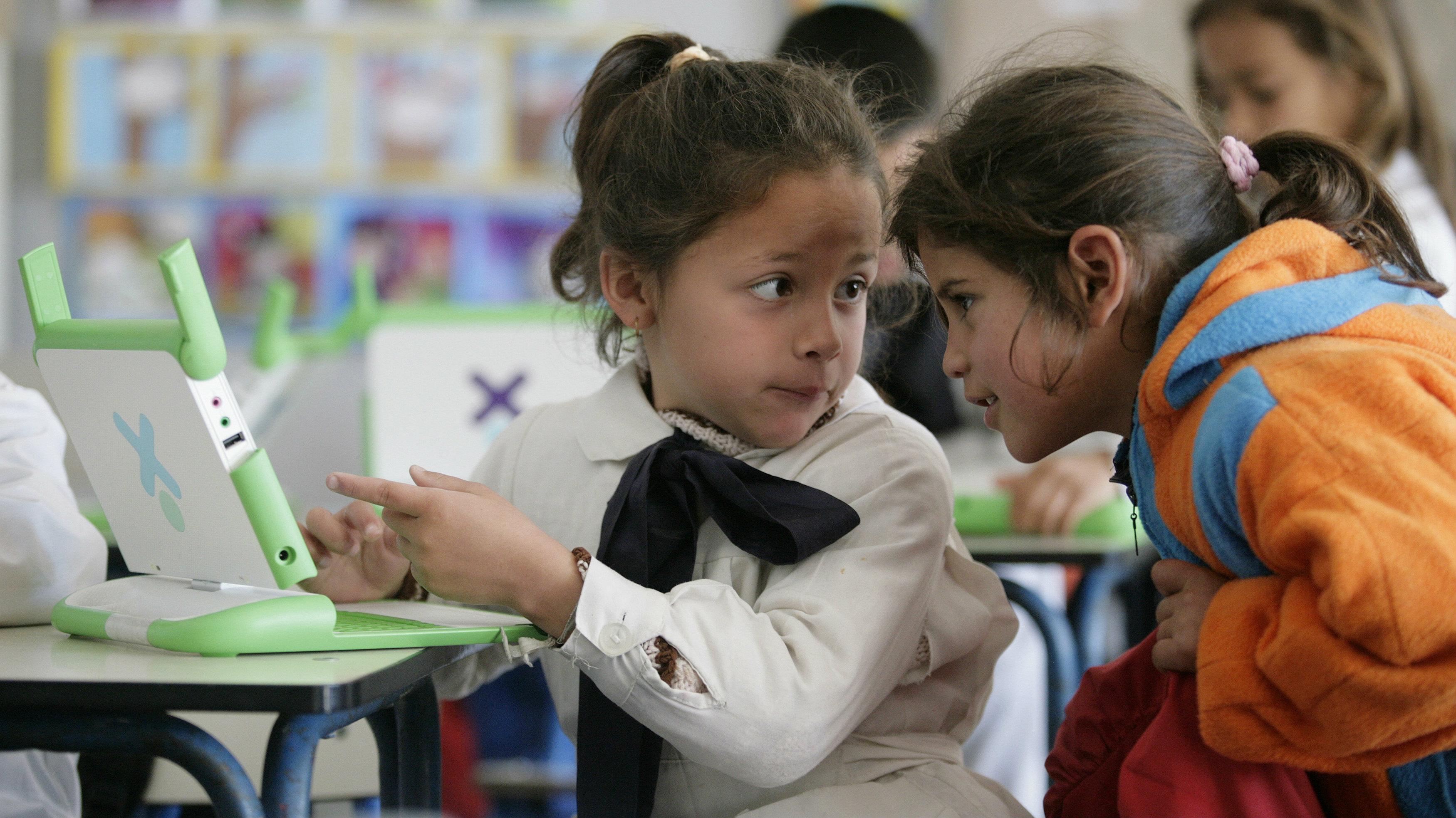 "First grade students of ""Treinta y Tres Orientales"" elementary school in Villa Garcia, a poor neighborhood.."