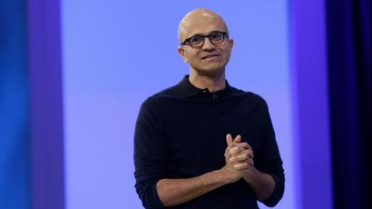 Microsoft CEO Satya Nadella speaks at the Microsoft Build conference in San Francisco,