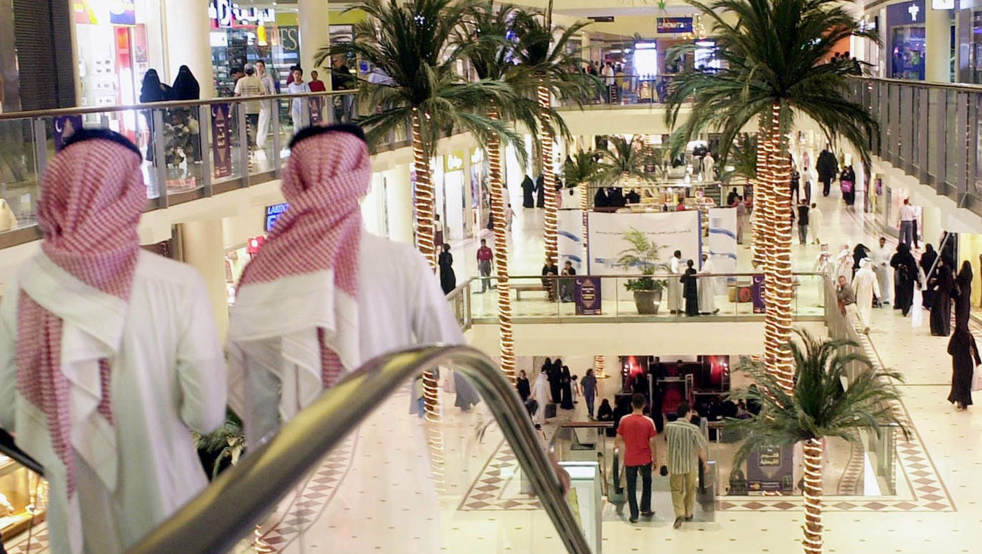 In Saudi Arabia, shopping malls are a good place to stay cool.