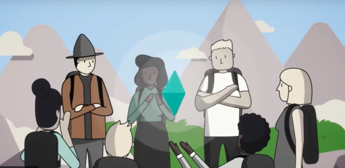 A scene from Ray Dalio's new animated series about his management principles.
