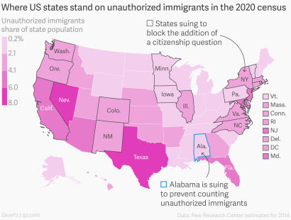 Immigrants By State Map.2020 Census Alabama Wants To Exclude Illegal Immigrants From The Us
