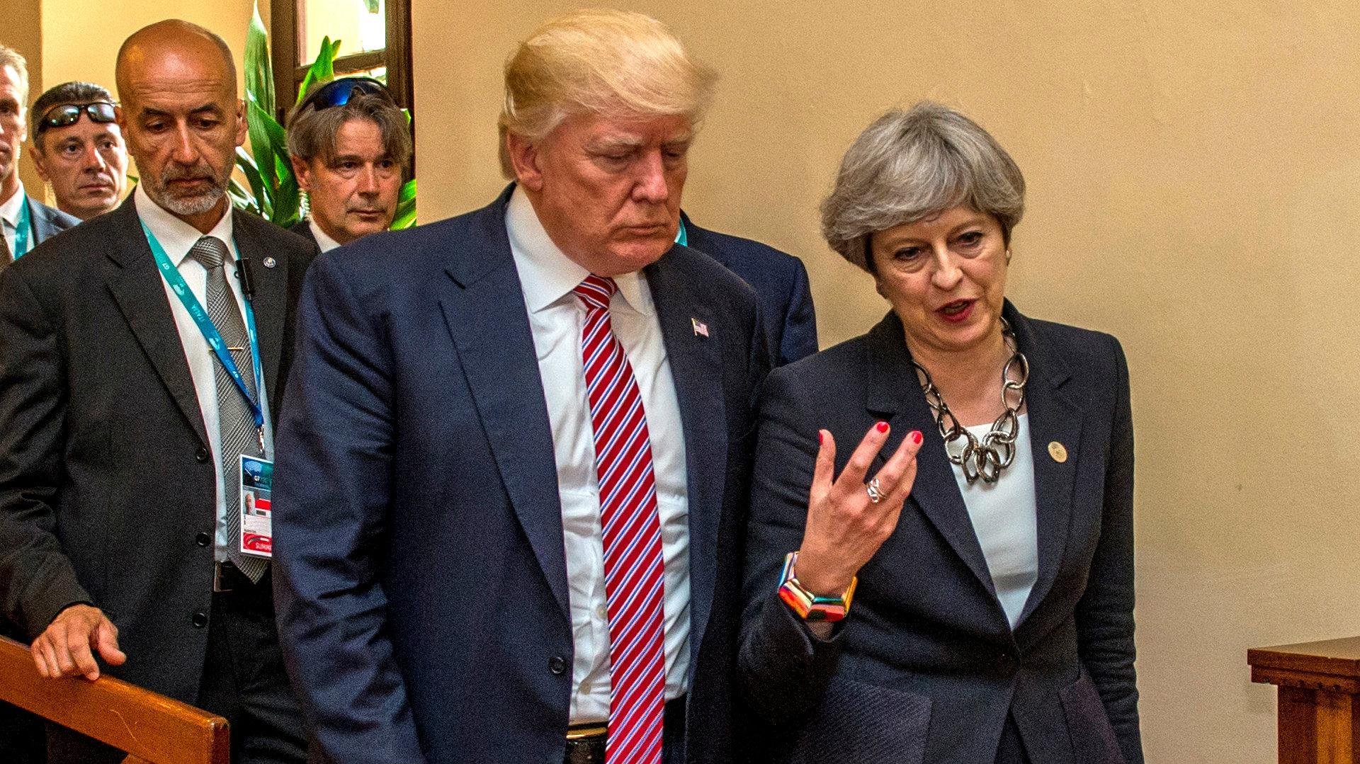 Trump May Brexit US tariffs trade war1