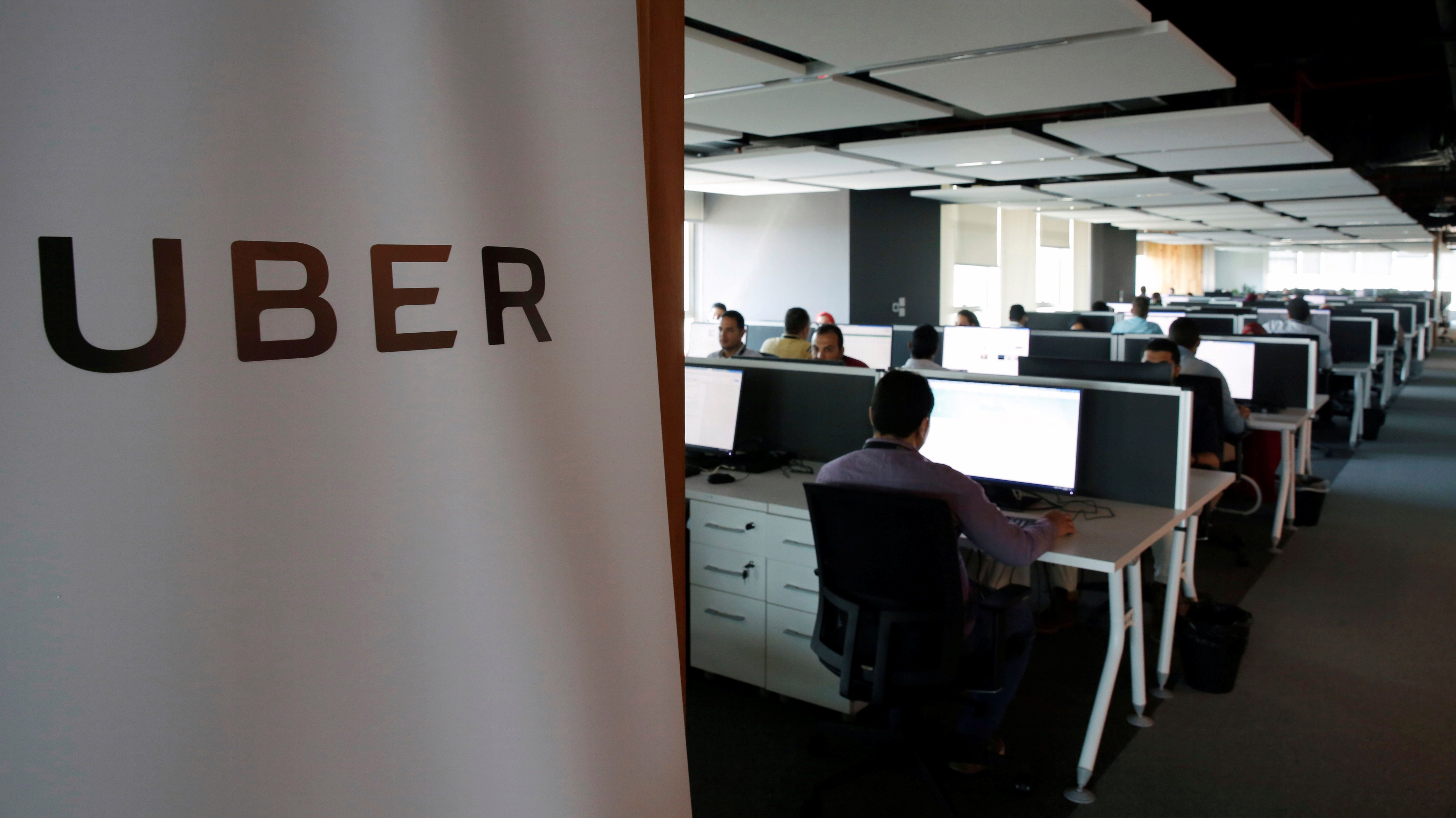 Employees work inside Uber's Centre of Excellence (COE) office in Cairo, Egypt October 10, 2017. REUTERS/Amr Abdallah Dalsh - RC14851C04A0