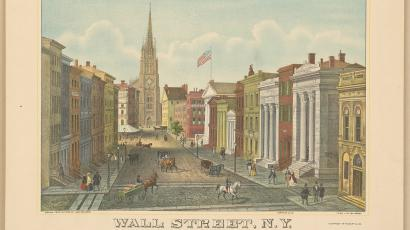 Wall Street in the 1840s