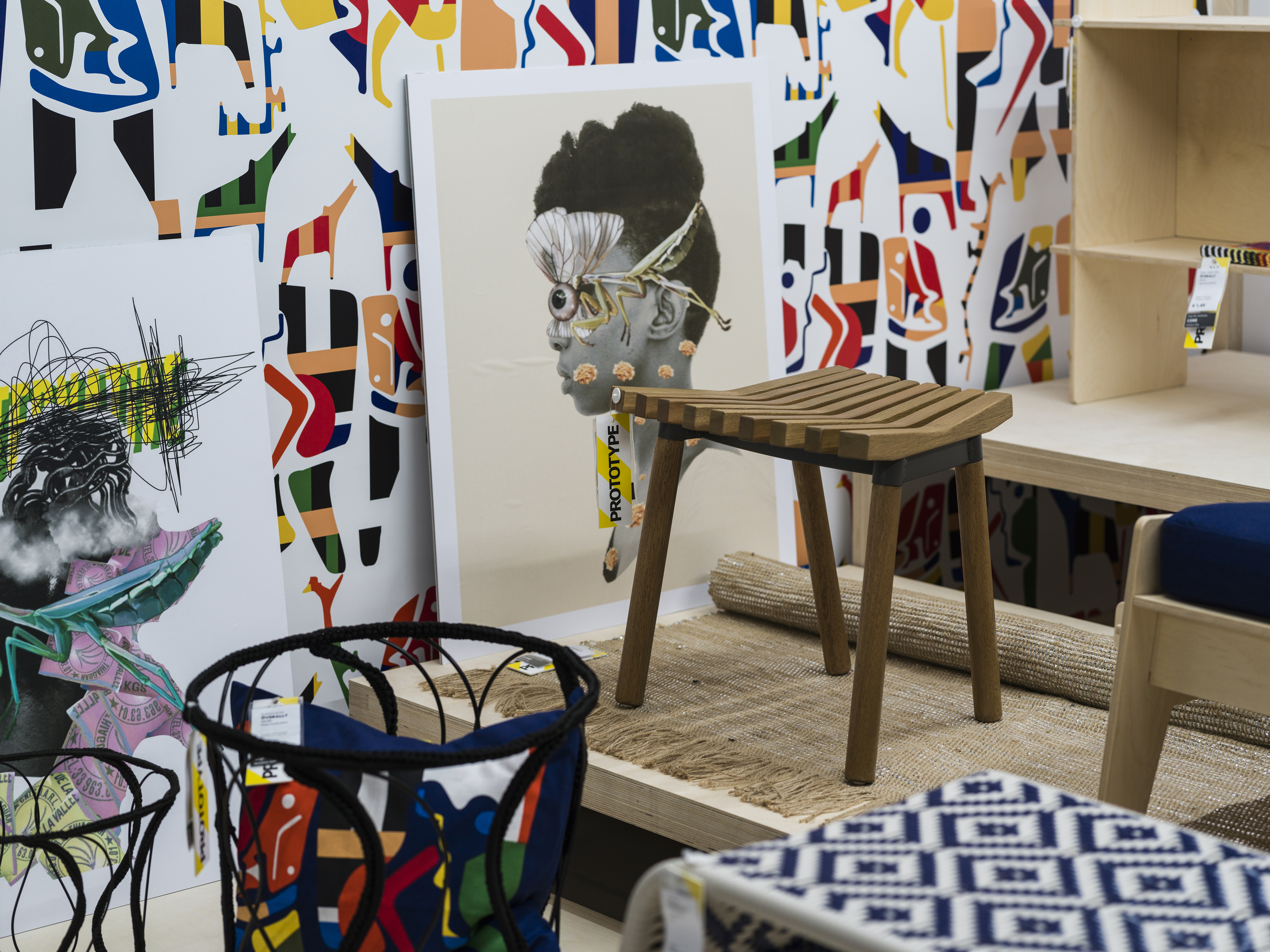 Promotional image for Ikea' s Överallt range, created in collaboration with African designers.