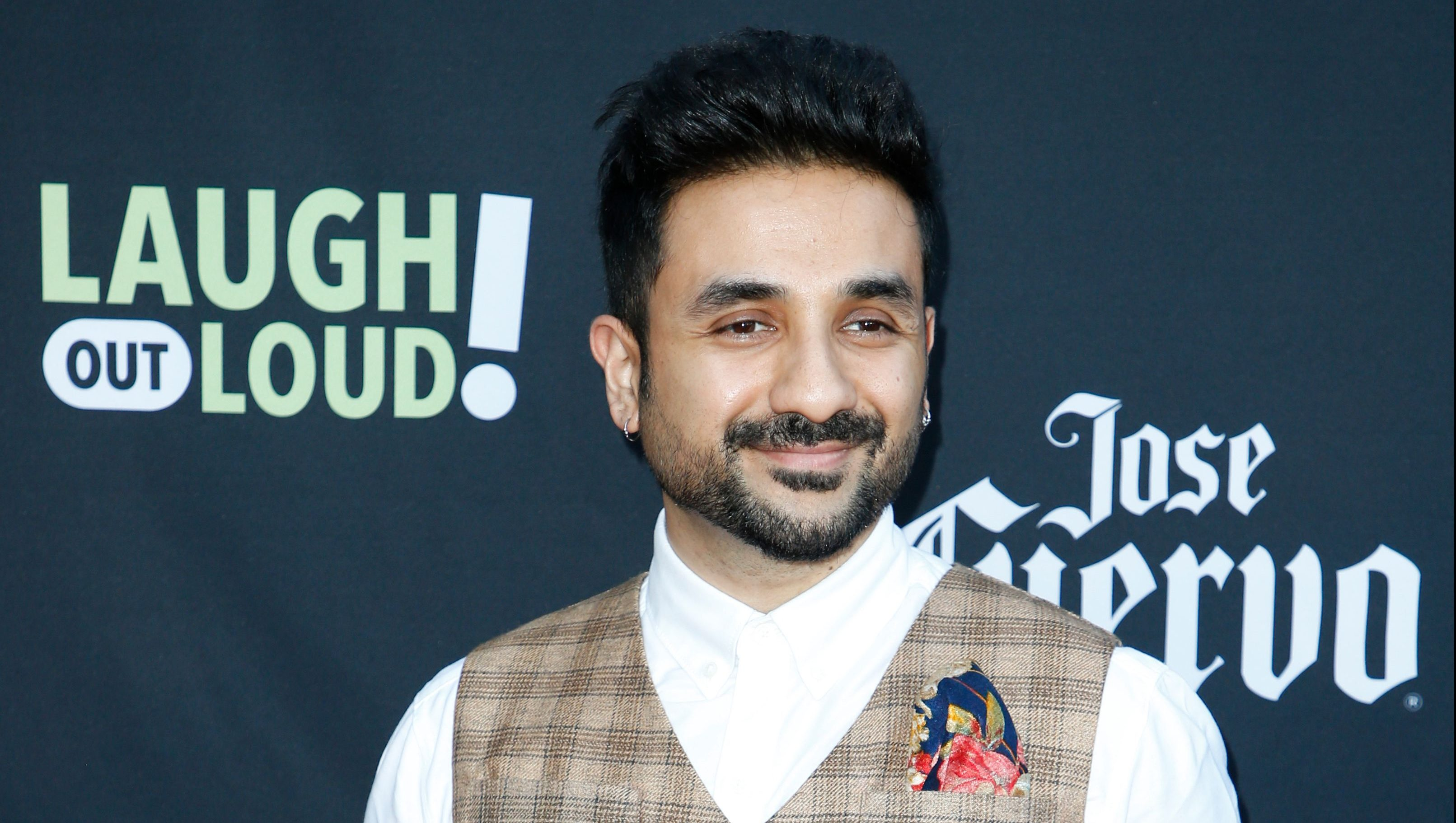 """Vir Das poses at Kevin Hart's """"Laugh Out Loud"""" new streaming video network launch event at the Goldstein Residence on Thursday, Aug. 3, 2017, in Beverly Hills, Calif. (Photo by Danny Moloshok/Invision/AP)"""