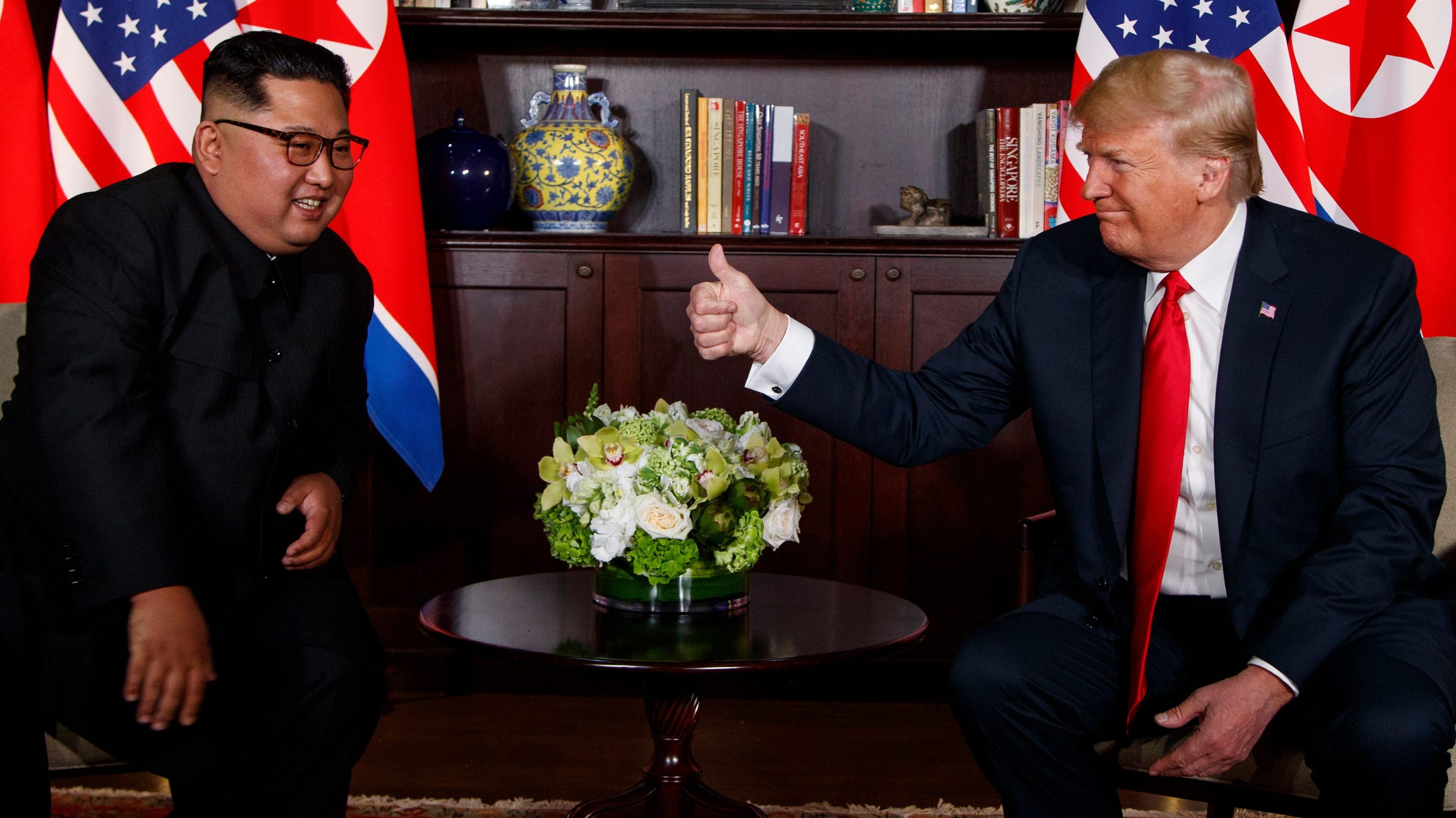Donald Trump and Kim Jong Un at US-North Korea summit.