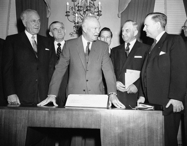 Dwight Eisenhower and Conrad Hilton