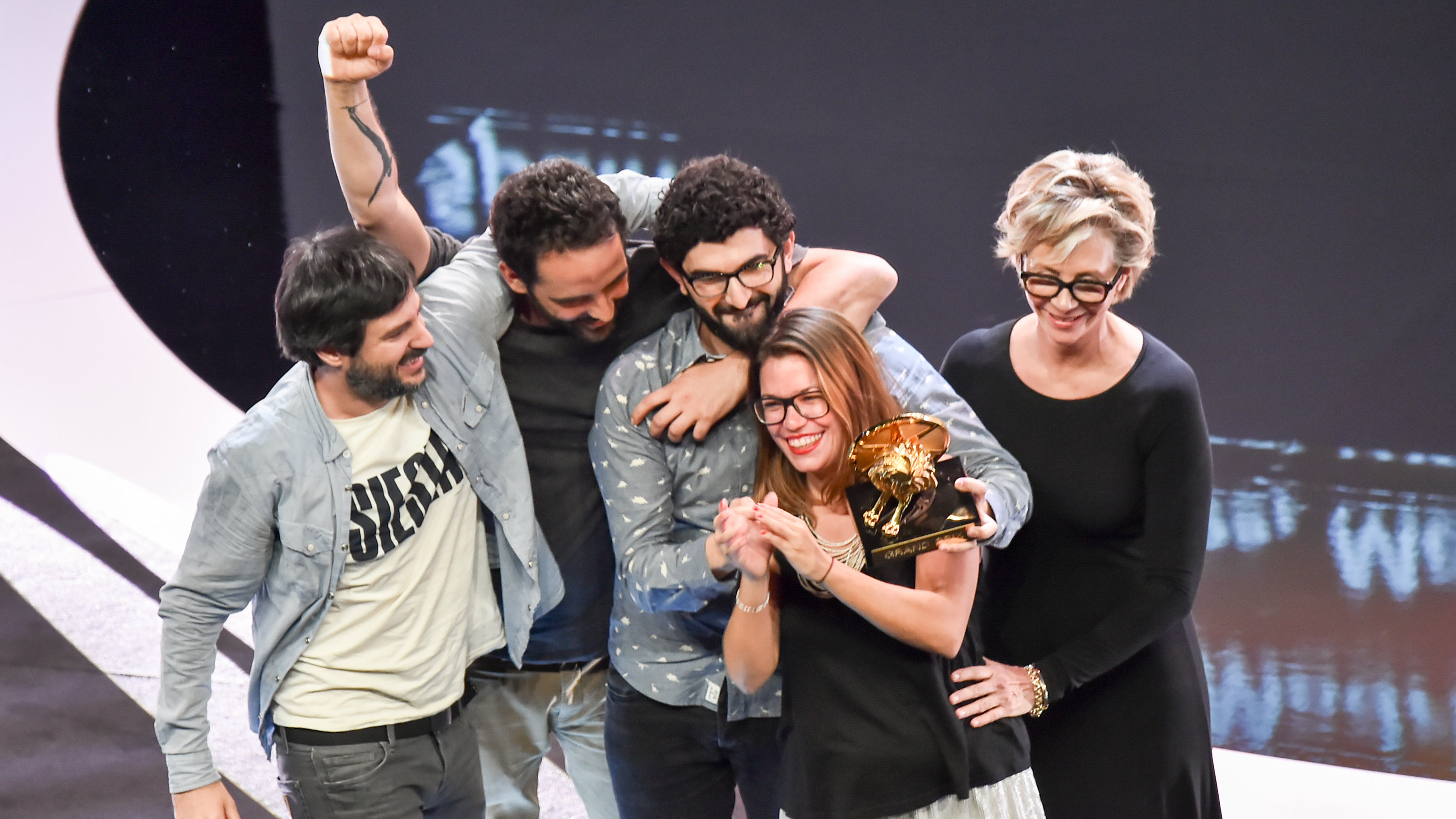 Cannes Lions 2018 Grand Prix award winners on stage