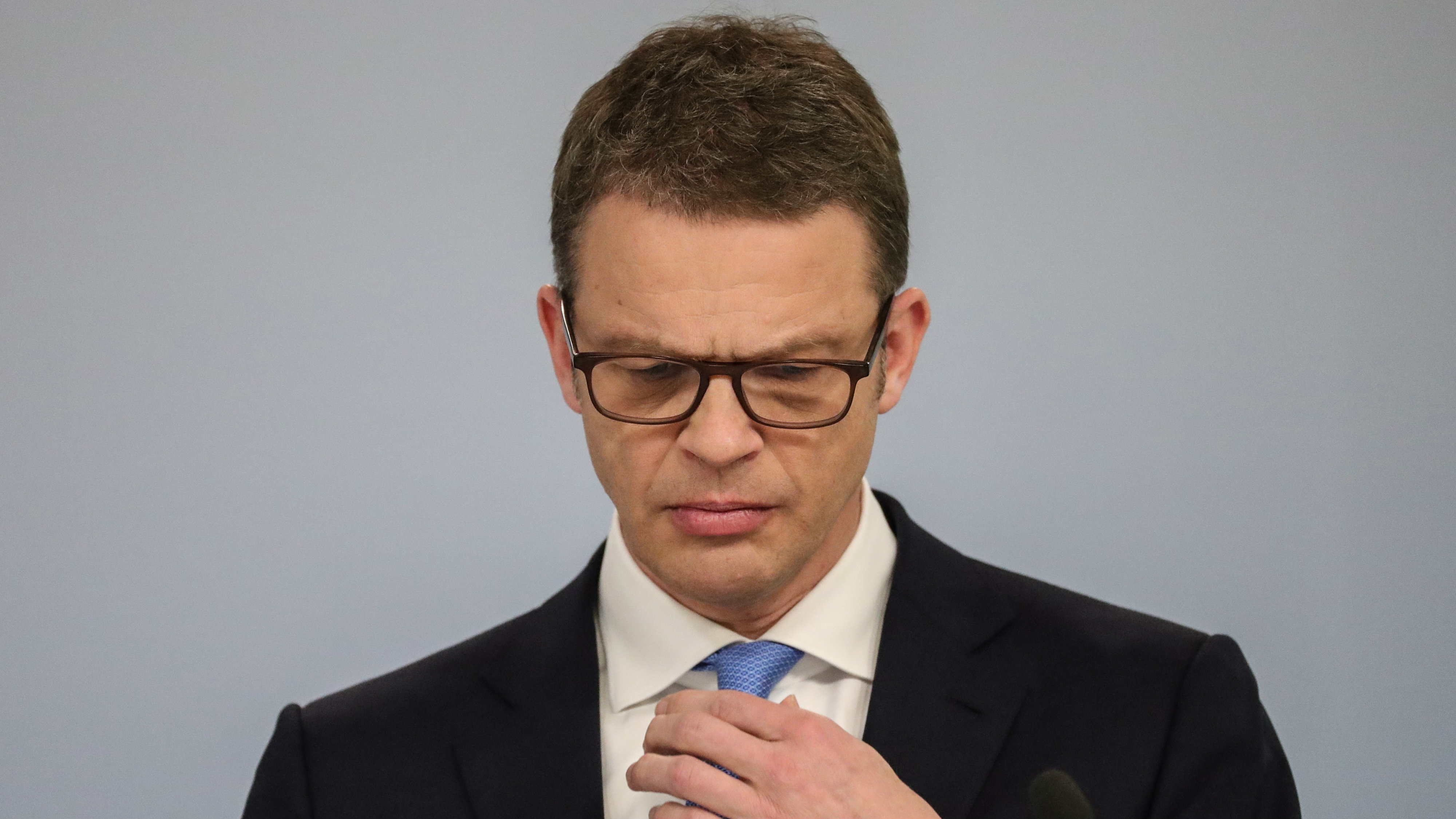 Christian Sewing, Co-President of Deutsche Bank, speaks during the Annual Media Conference of Deutsche Bank in Frankfurt Main, Germany, 02 February 2018.