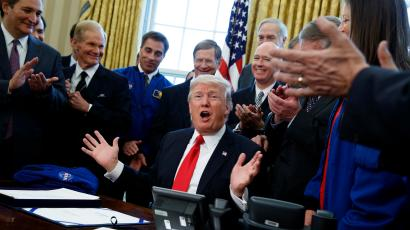 9a6051fb5 Donald Trump surprised officials by announcing the Space Force, a new  branch of the US military
