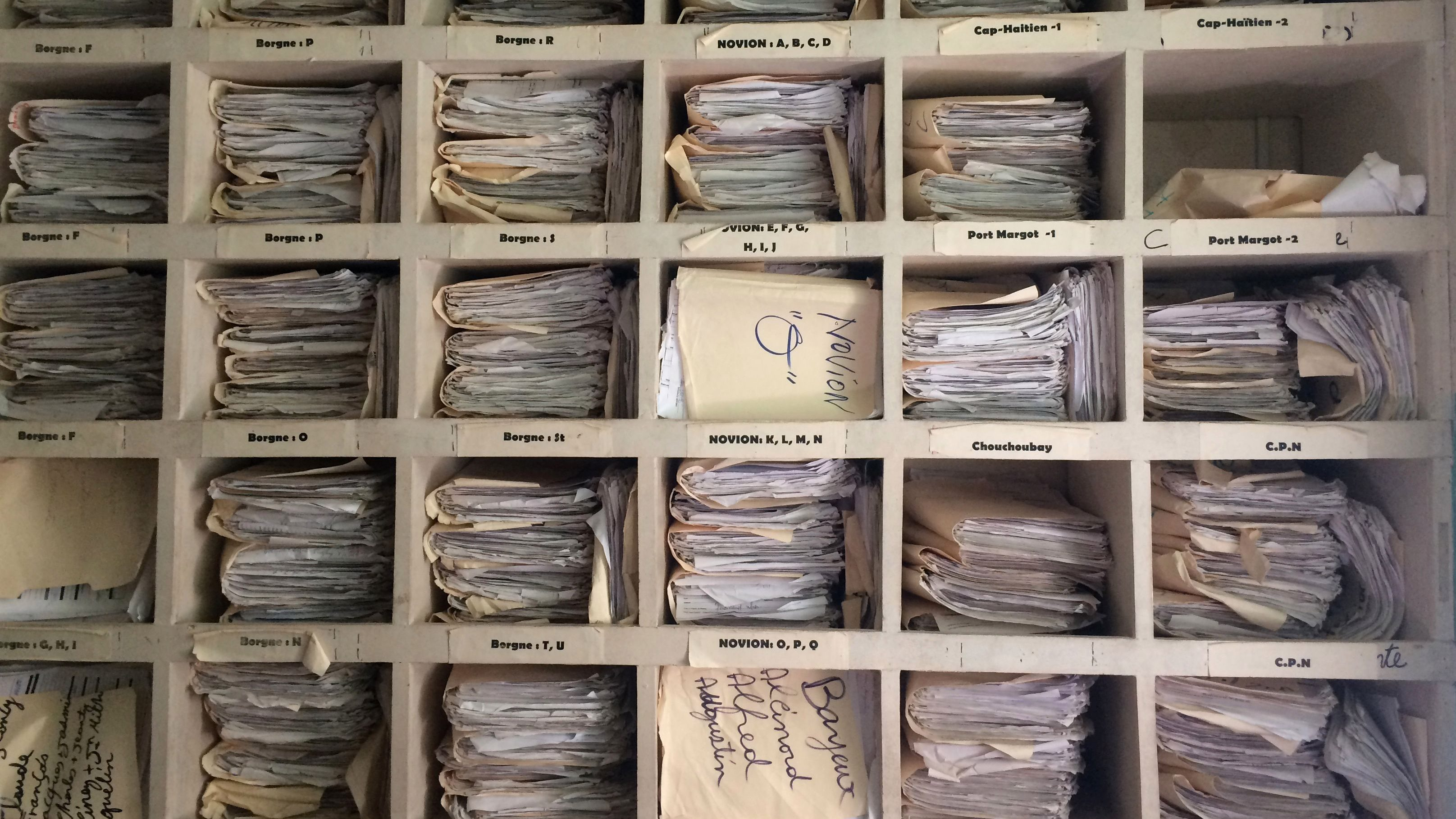 The patients' files collected by the communty health workers and stored in the hospital.