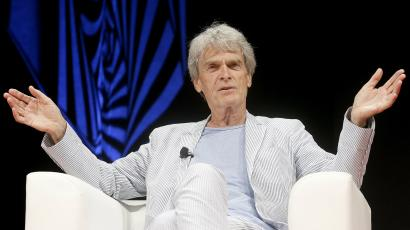 Sir John Hegarty on stage during Cannes Lions 2018