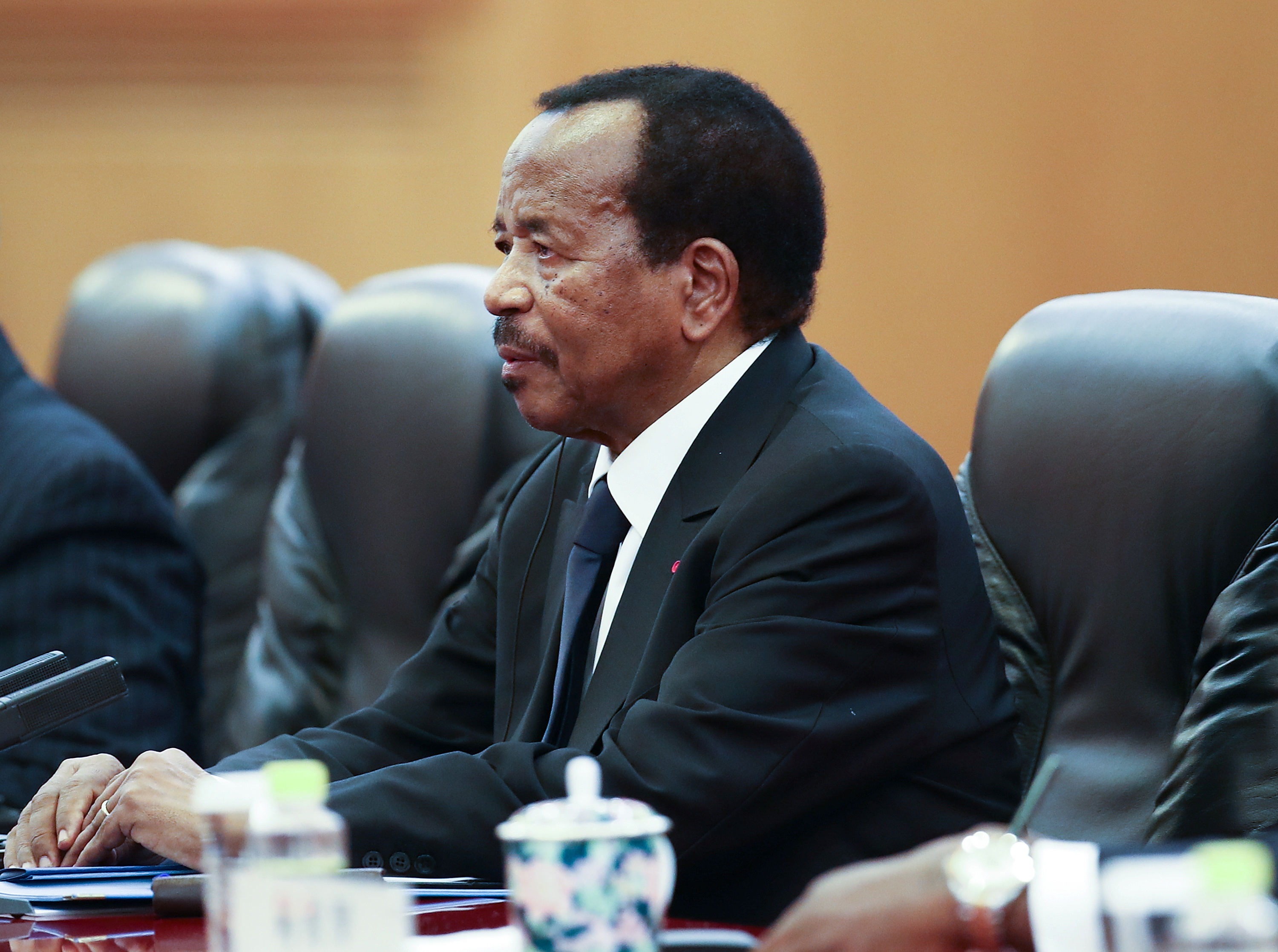 Cameroonian President Paul Biya visits China