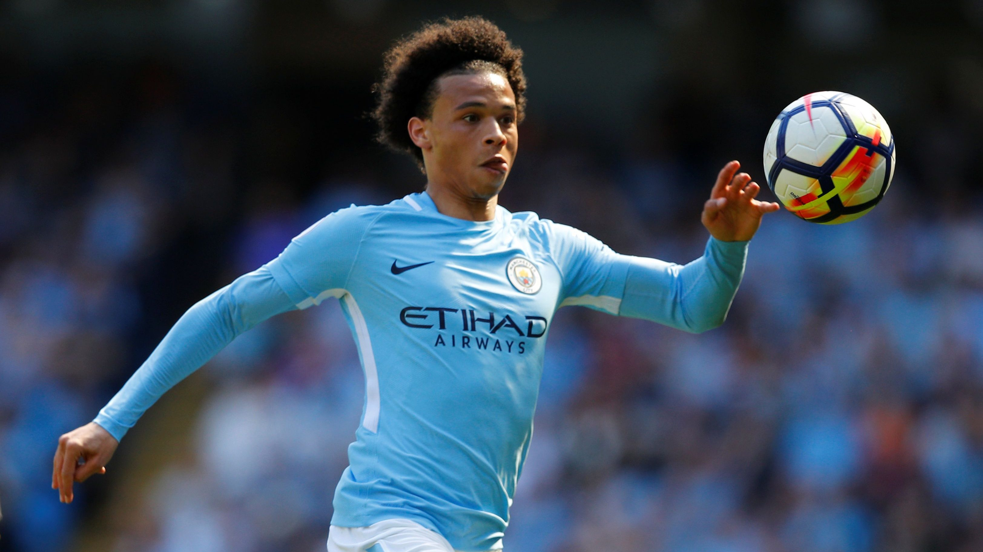 Soccer Football - Premier League - Manchester City vs Huddersfield Town - Etihad Stadium, Manchester, Britain - May 6, 2018   Manchester City's Leroy Sane in action