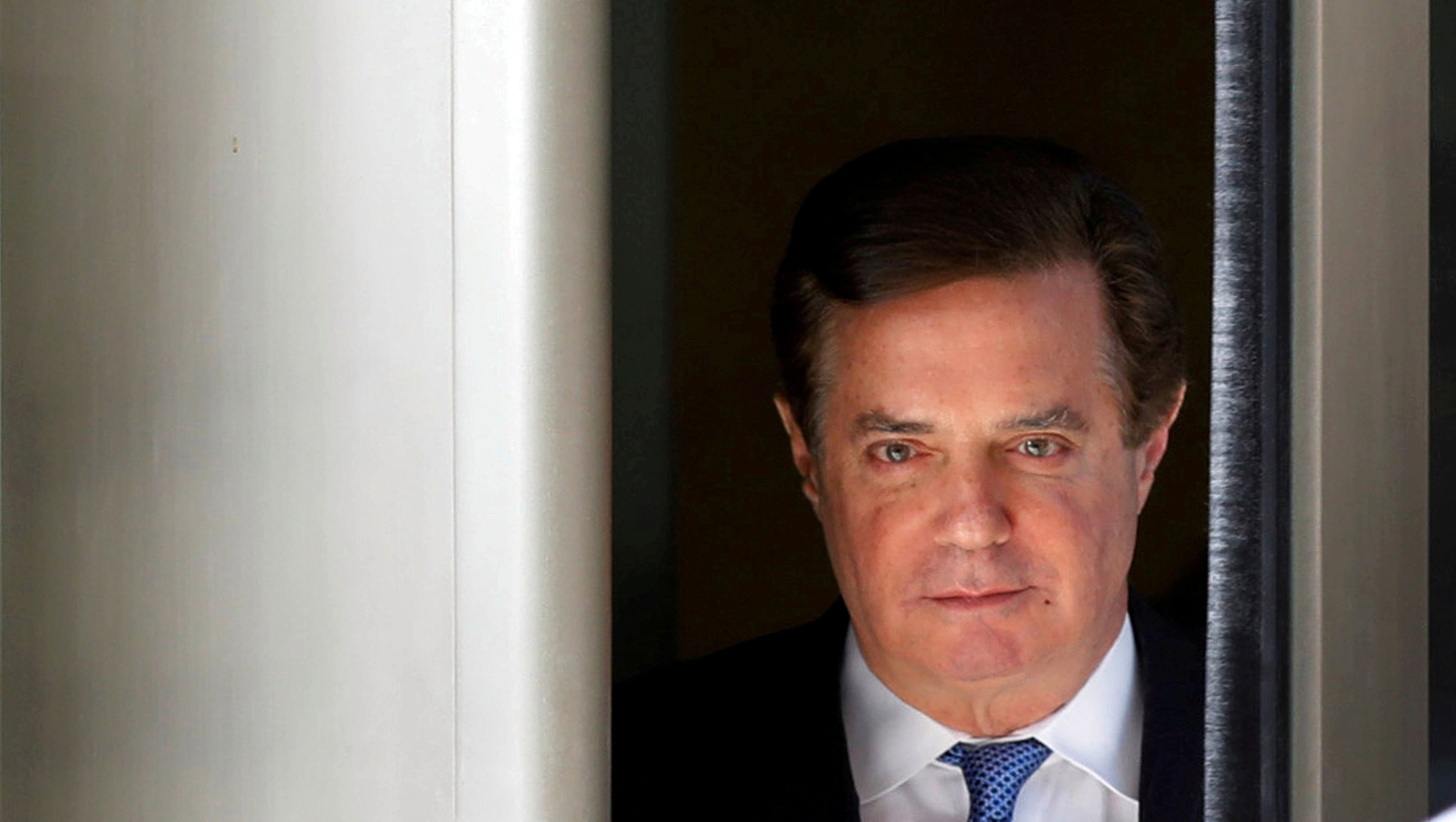 FILE PHOTO: Former Trump campaign manager Paul Manafort departs from U.S. District Court in Washington, DC, U.S., February 28, 2018.  REUTERS/Yuri Gripas/File Photo - RC1F4E3430F0