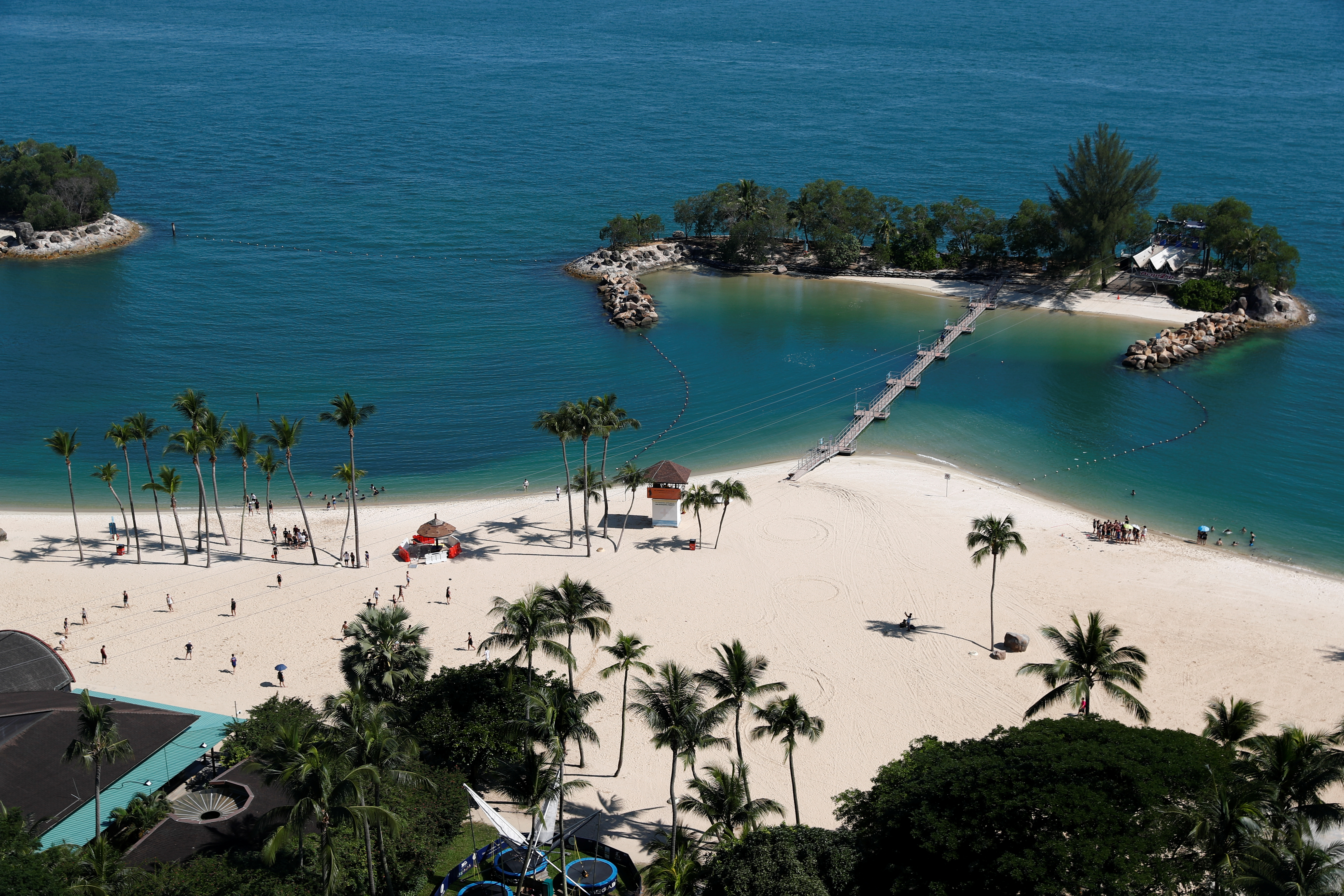 A view of Siloso Beach on Sentosa Island in Singapore June 4, 2018. Picture taken June 4, 2018. REUTERS/Edgar Su - RC120829F740