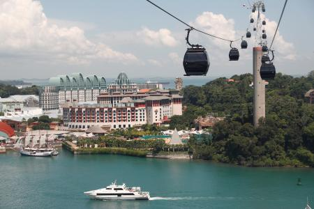 A view of Sentosa Island in Singapore June 4, 2018. Picture taken June 4, 2018.