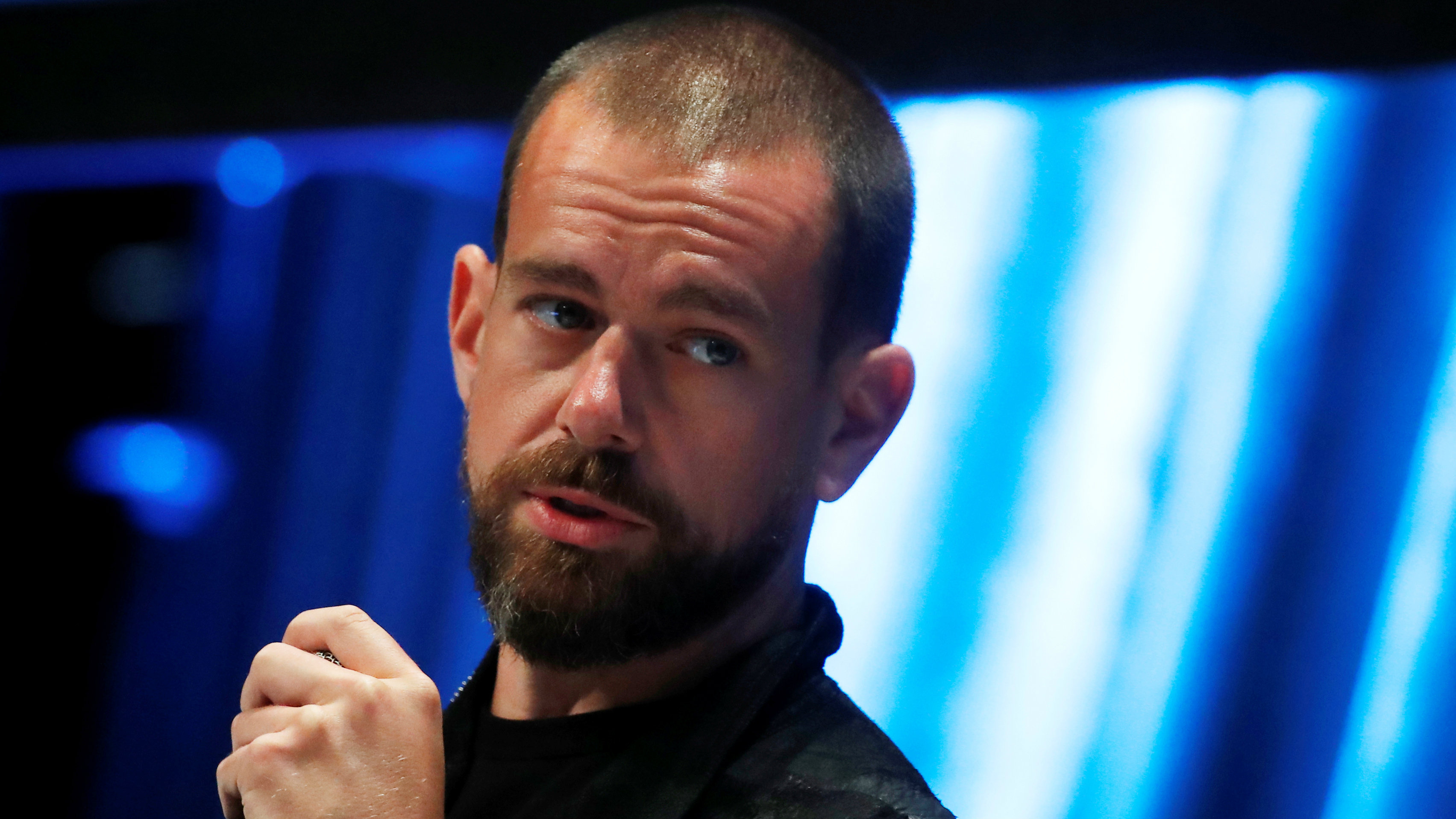 Jack Dorsey, CEO and co-founder of Twitter and founder and CEO of Square, speaks at the Consensus 2018 blockchain technology conference in New York City, New York, U.S., May 16, 2018.