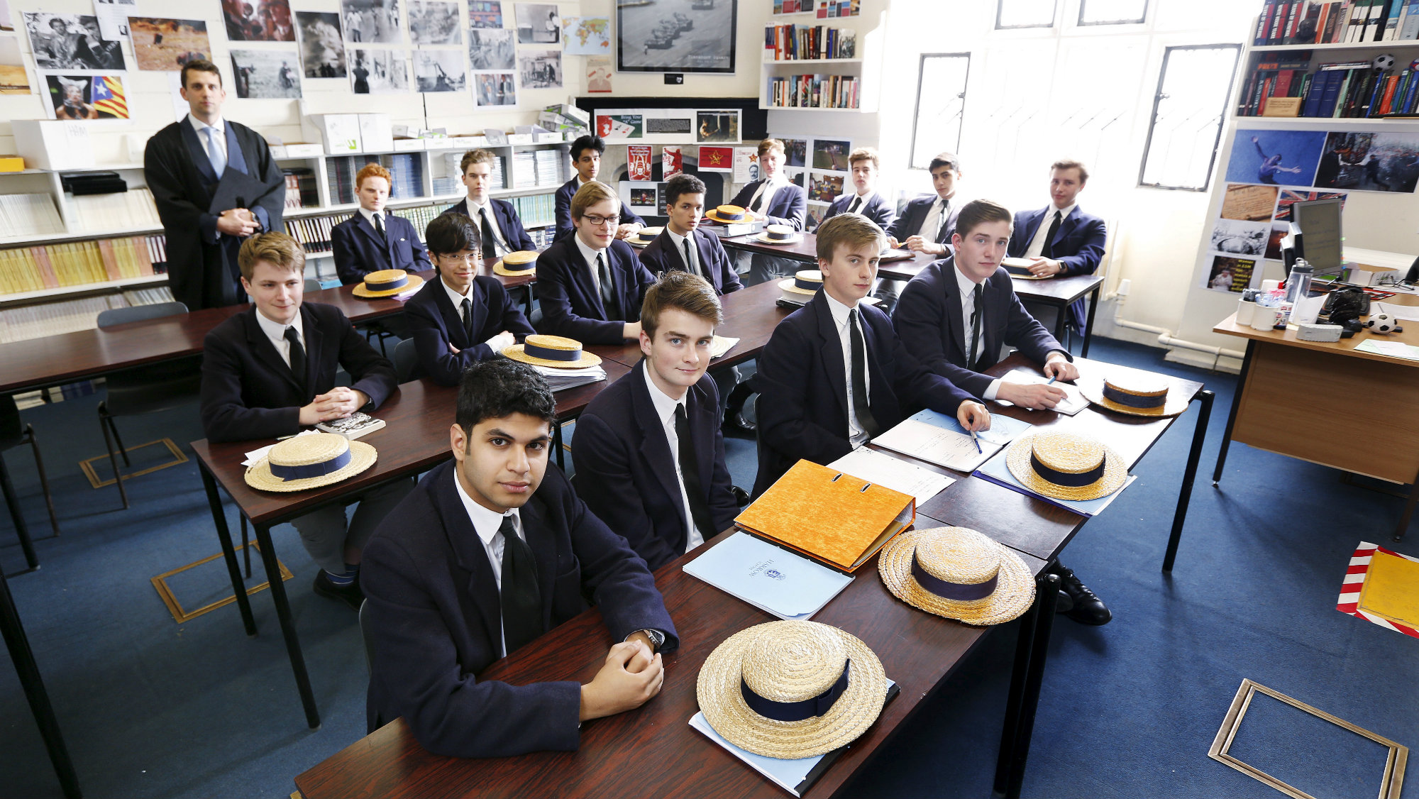 Students in a classroom at a London school