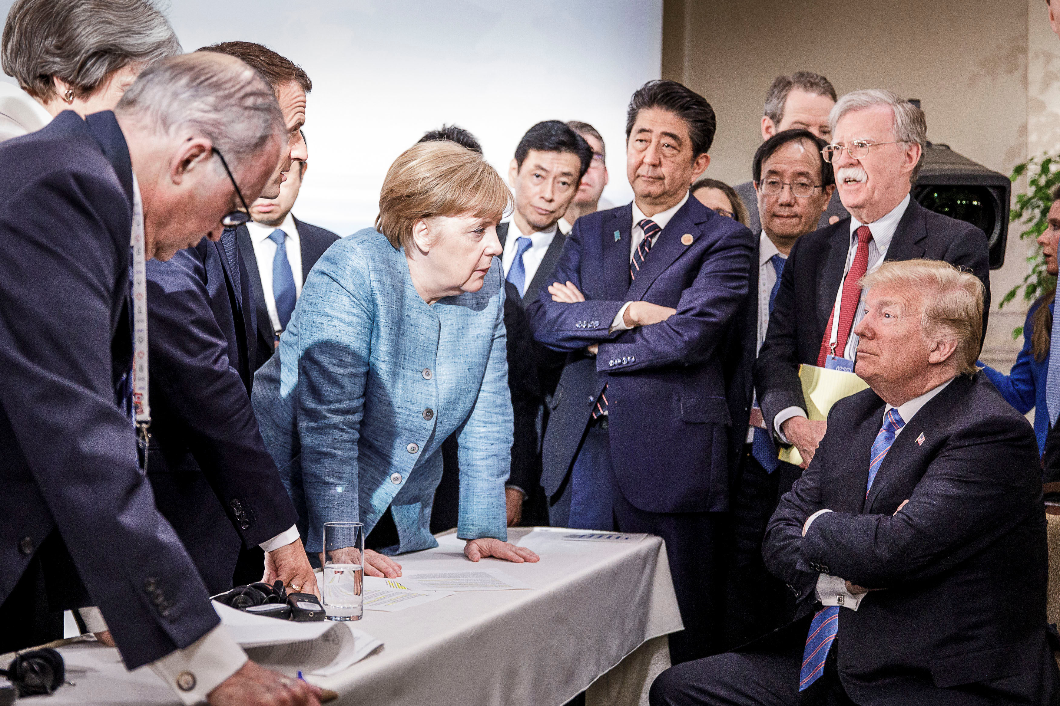 A photo from the G7 perfectly captured Trump vs. the rest of the world