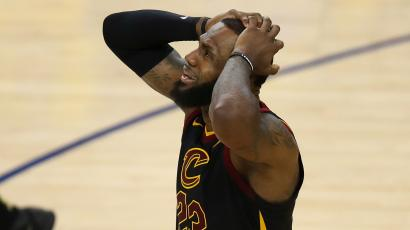 4fde23d6e96 Caption contest: LeBron James's agony after a J.R. Smith blunder cost the  Cavs game 1