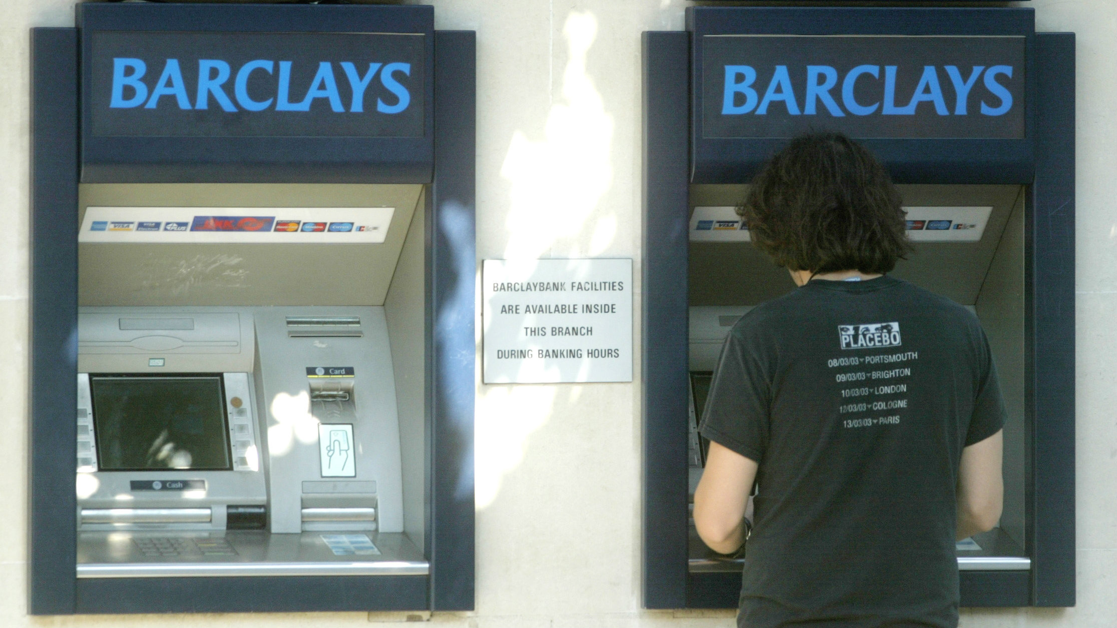 Barclays Bank cash machines in London