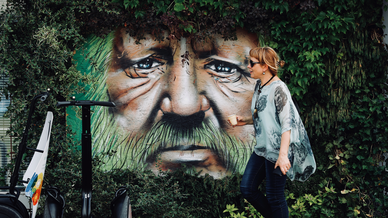 Forest Man art installation, Croatia.