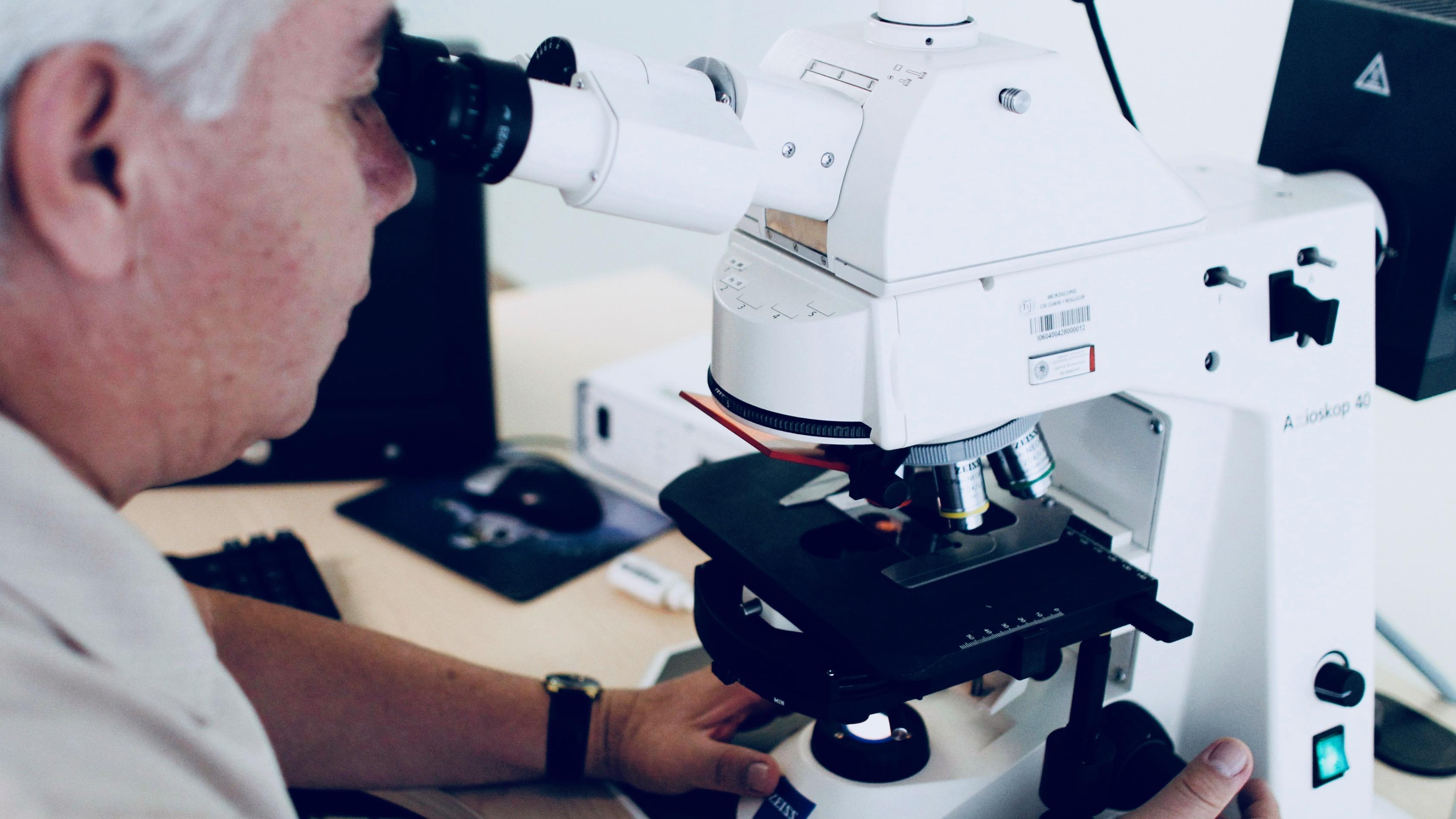 Examining DNA evidence in Mexico.