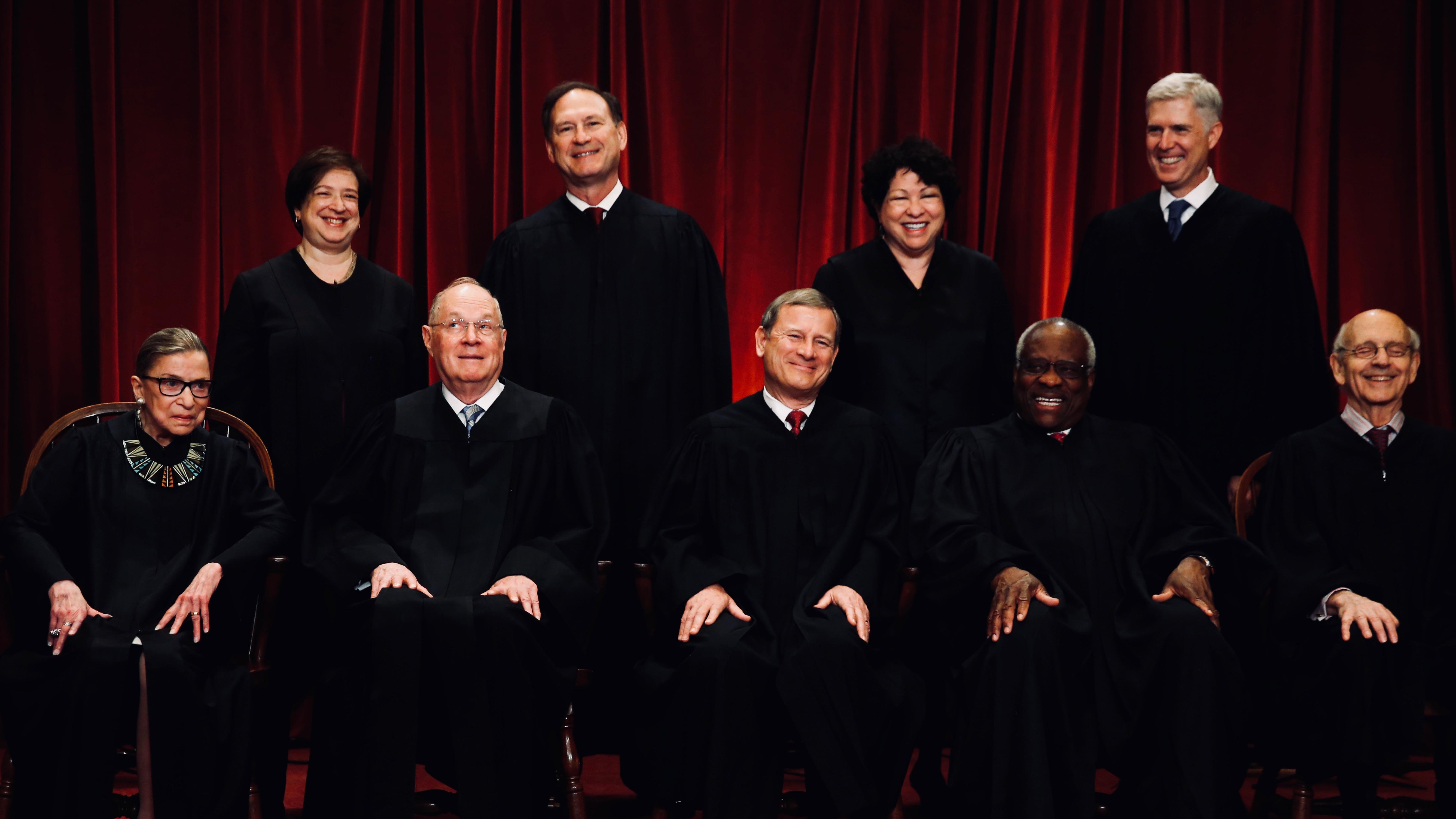 US Supreme Court family photo.