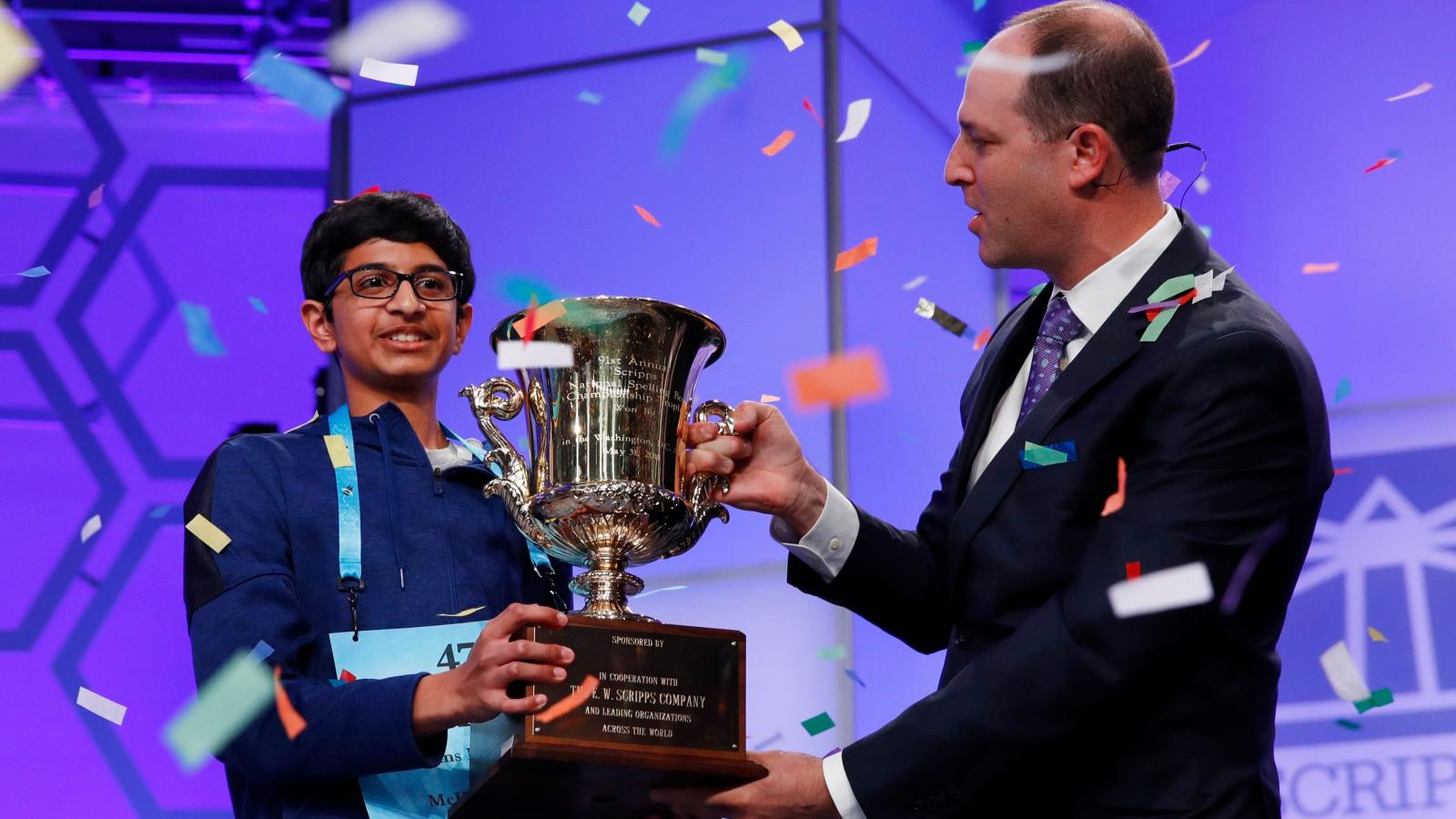 The 2018 Spelling Bee Champion Winning Word Koinonia And Winners Andrew Smith Classic Formal Shirt Cokelat S From Past 20 Years Quartz