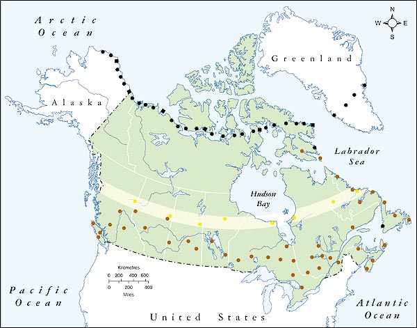 Map Of Canada Us Border Ontario.G7 Donald Trump S Tariffs On Canada Endanger A Key Us Military