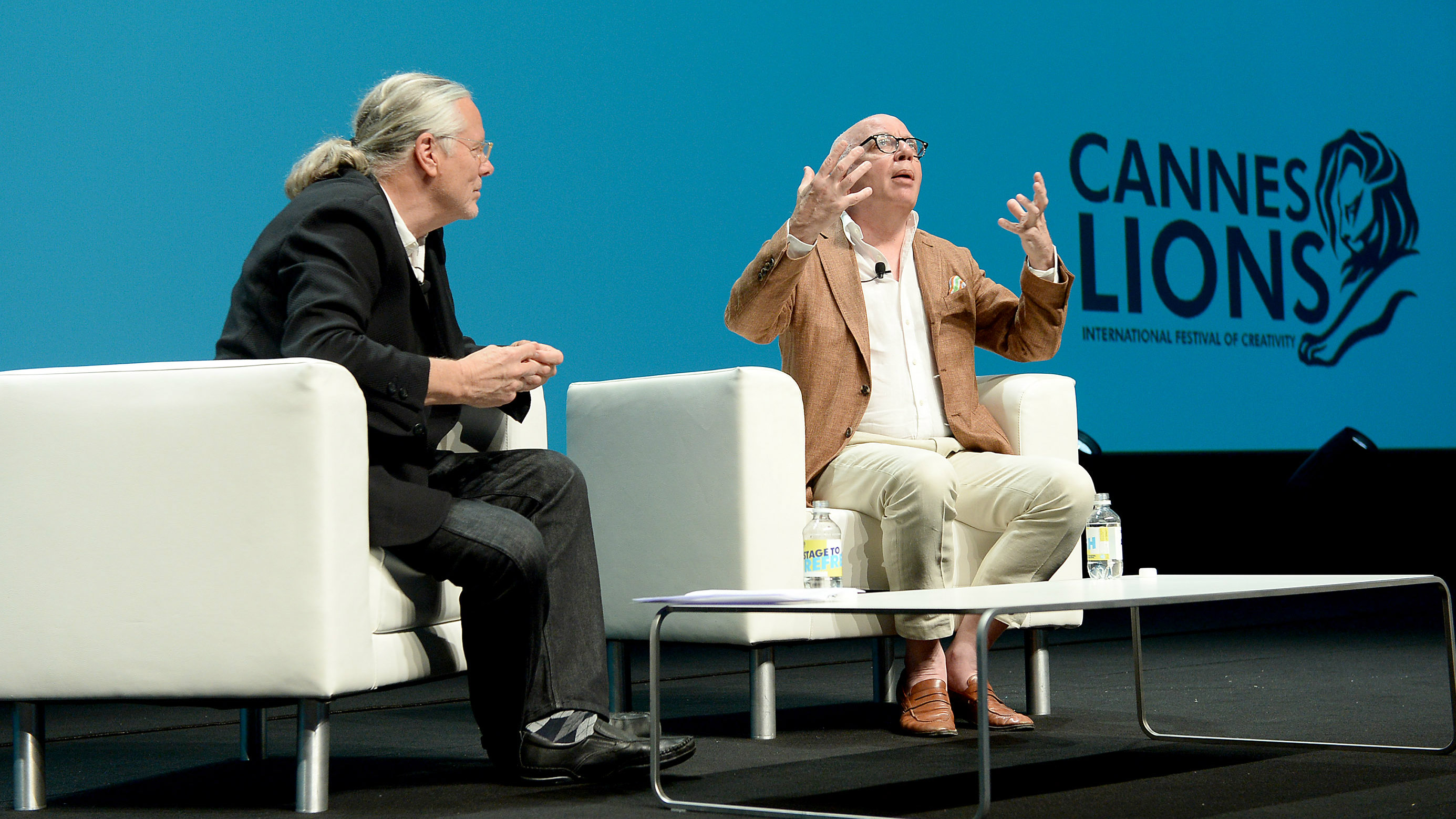Michael Wolff onstage at the Cannes Lions 2018