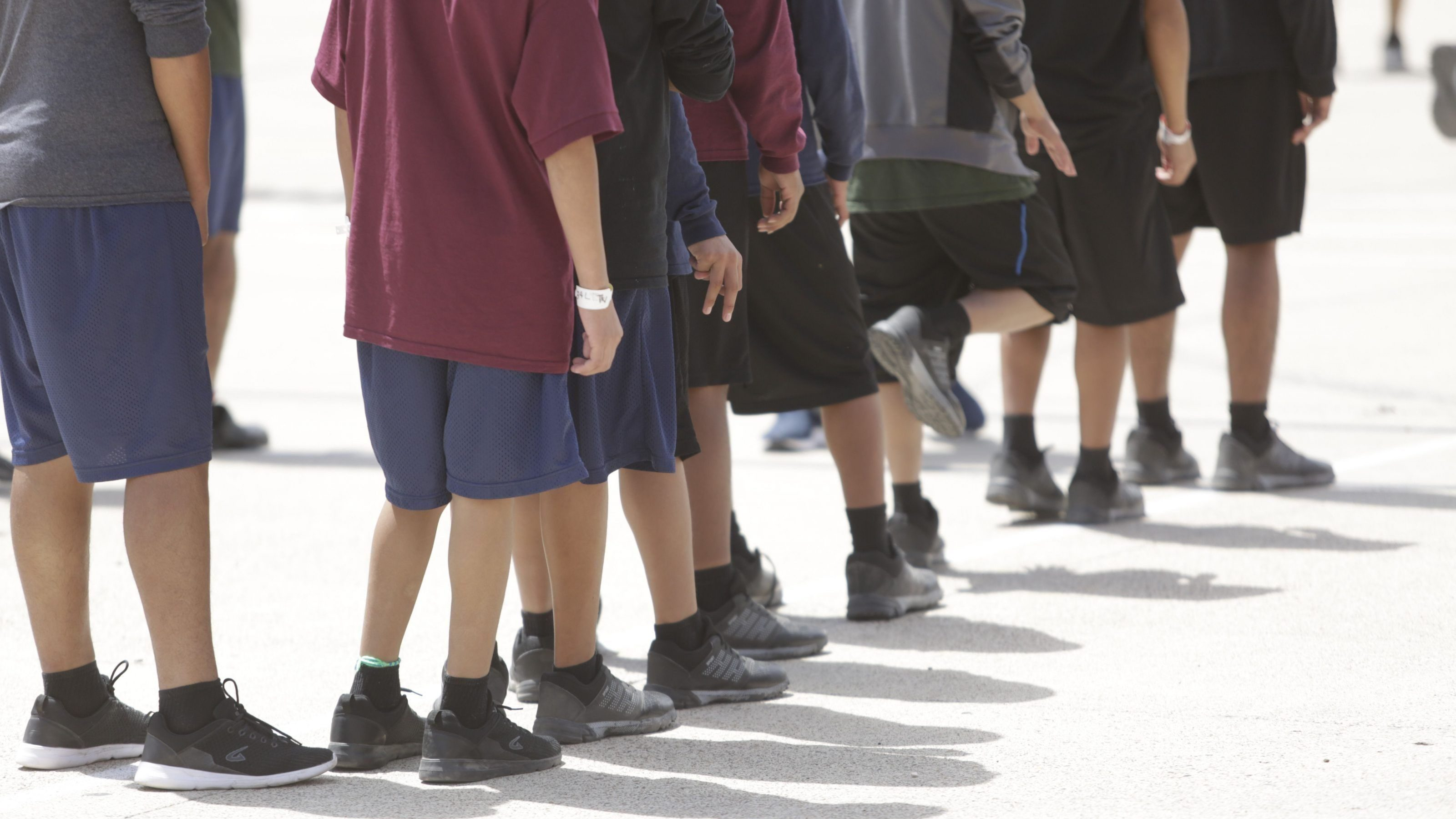 migrant children at Casa Padre, a detention center in texas