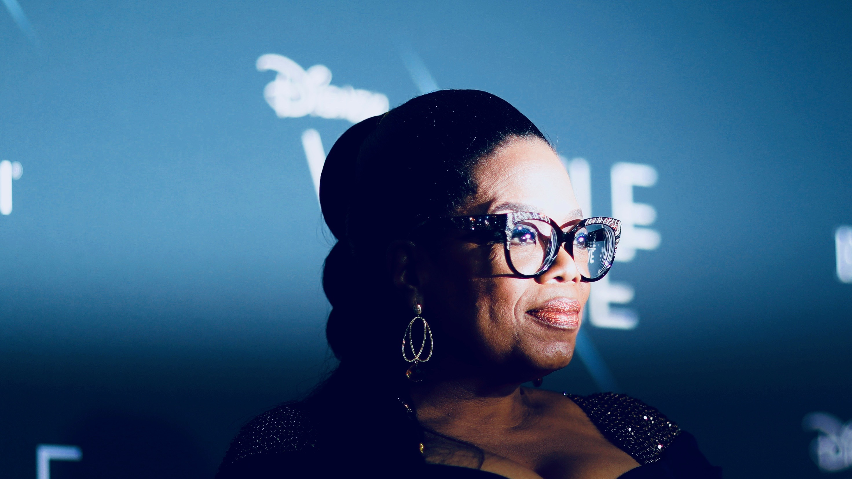 Oprah Winfrey at a Wrinkle in Time opening.