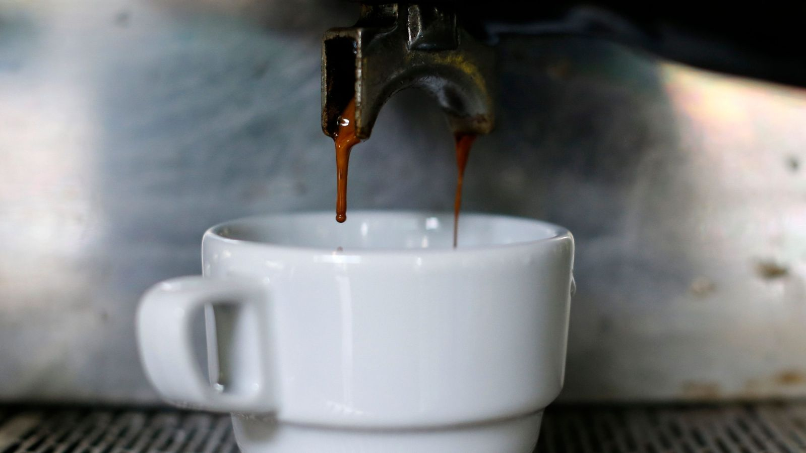 Photo of a brewing coffee