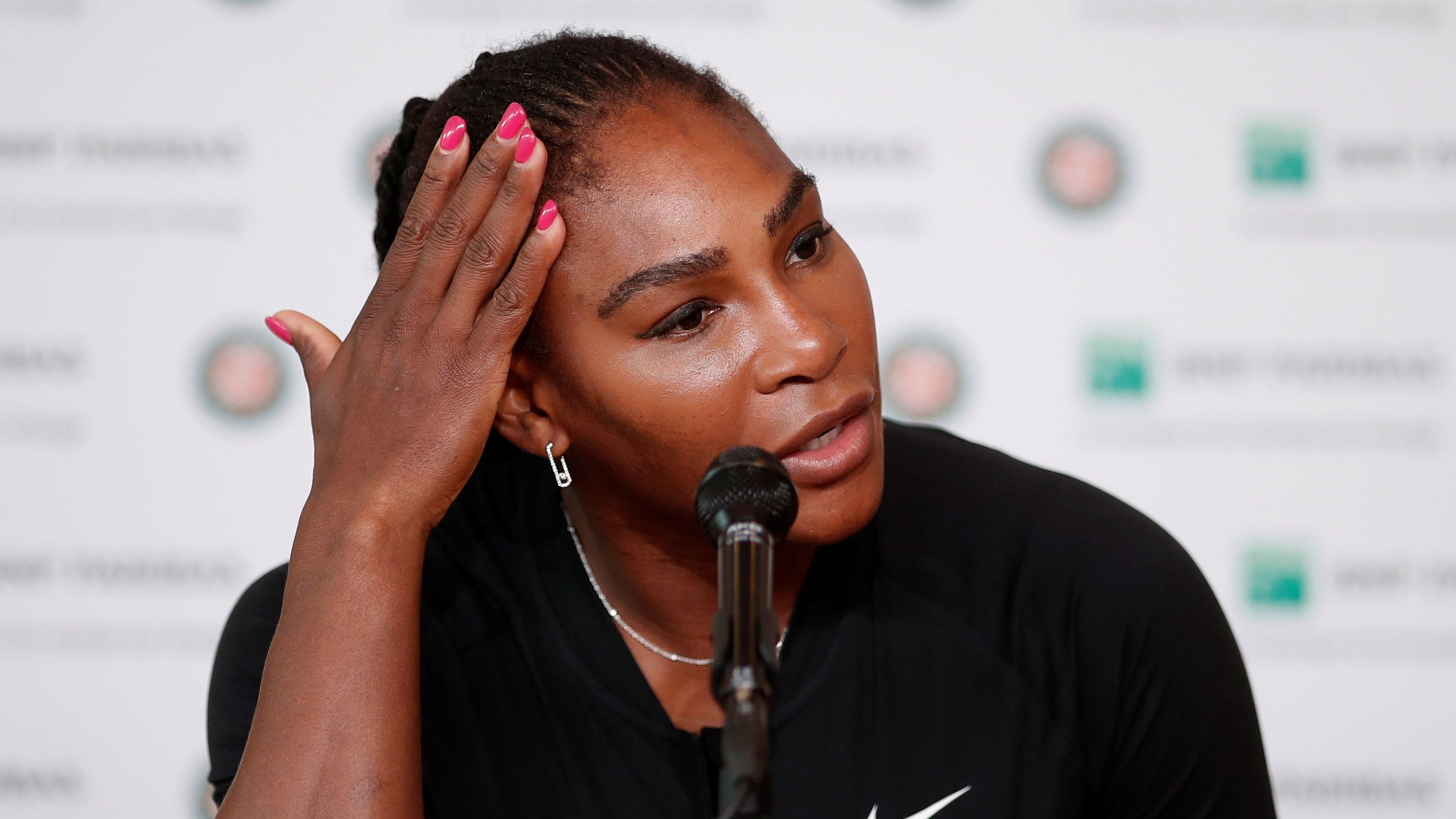 Tennis - French Open - Roland Garros, Paris, France - June 4, 2018   Serena Williams of the U.S during a press conference   REUTERS/Benoit Tessier - RC1CBAB07C70