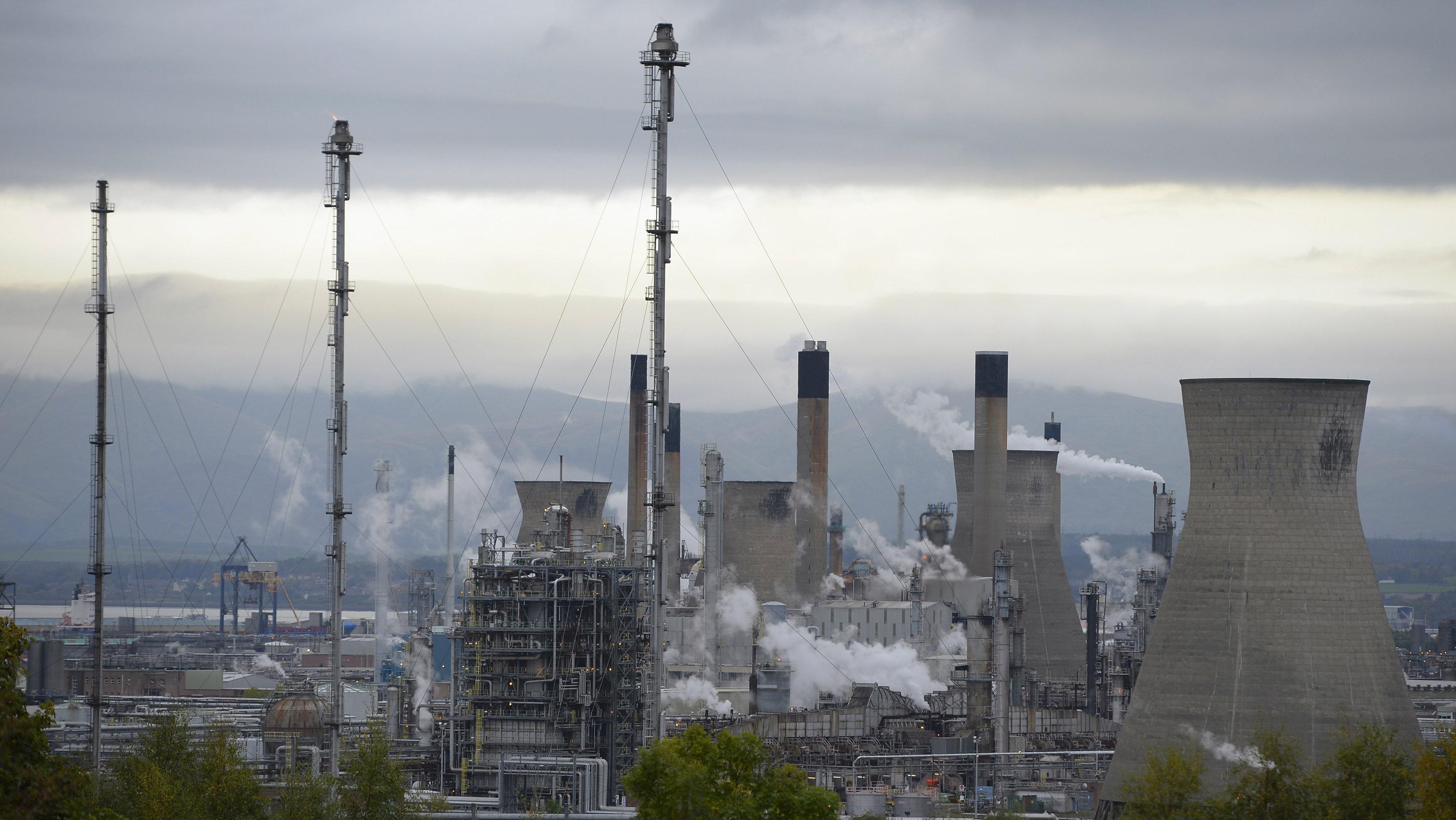 Oil refinery at Grangemouth, Scotland