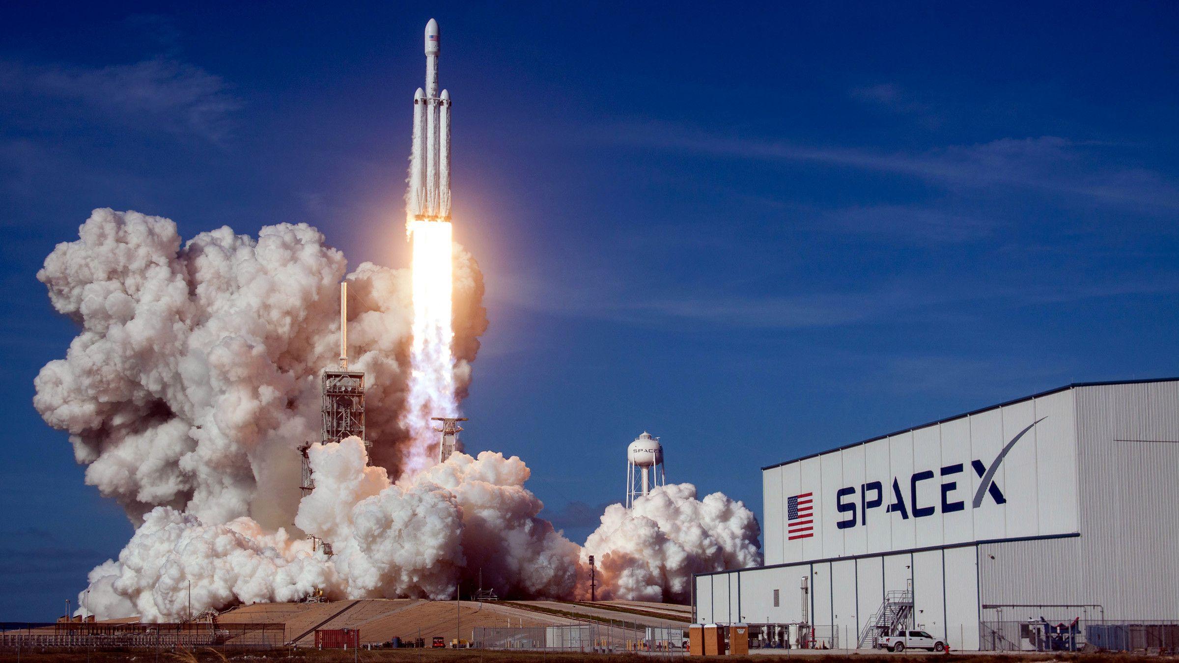 The Falcon Heavy demo flight.