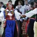 Swedes in traditional dress celebrate during the Midsummer festival