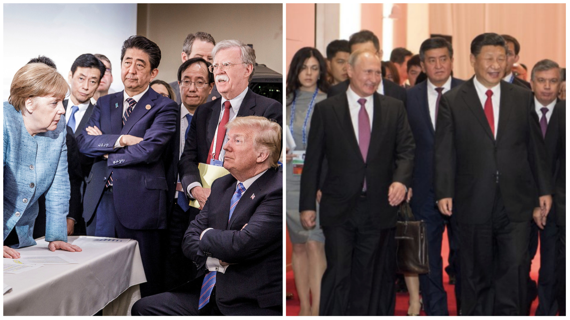 Photos of Trump at G7 and Xi Jinping at SCO sum up state of