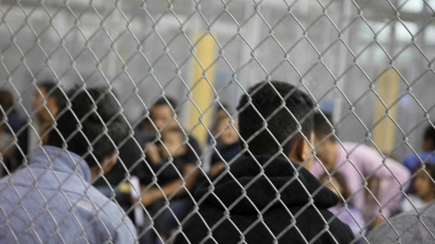 A view of inside U.S. Customs and Border Protection (CBP) detention facility shows detainees inside fenced areas at Rio Grande Valley Centralized Processing Center in Rio Grande City, Texas, U.S., June 17, 2018. Picture taken on June 17, 2018.