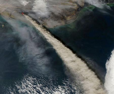 Volcanos seen from space