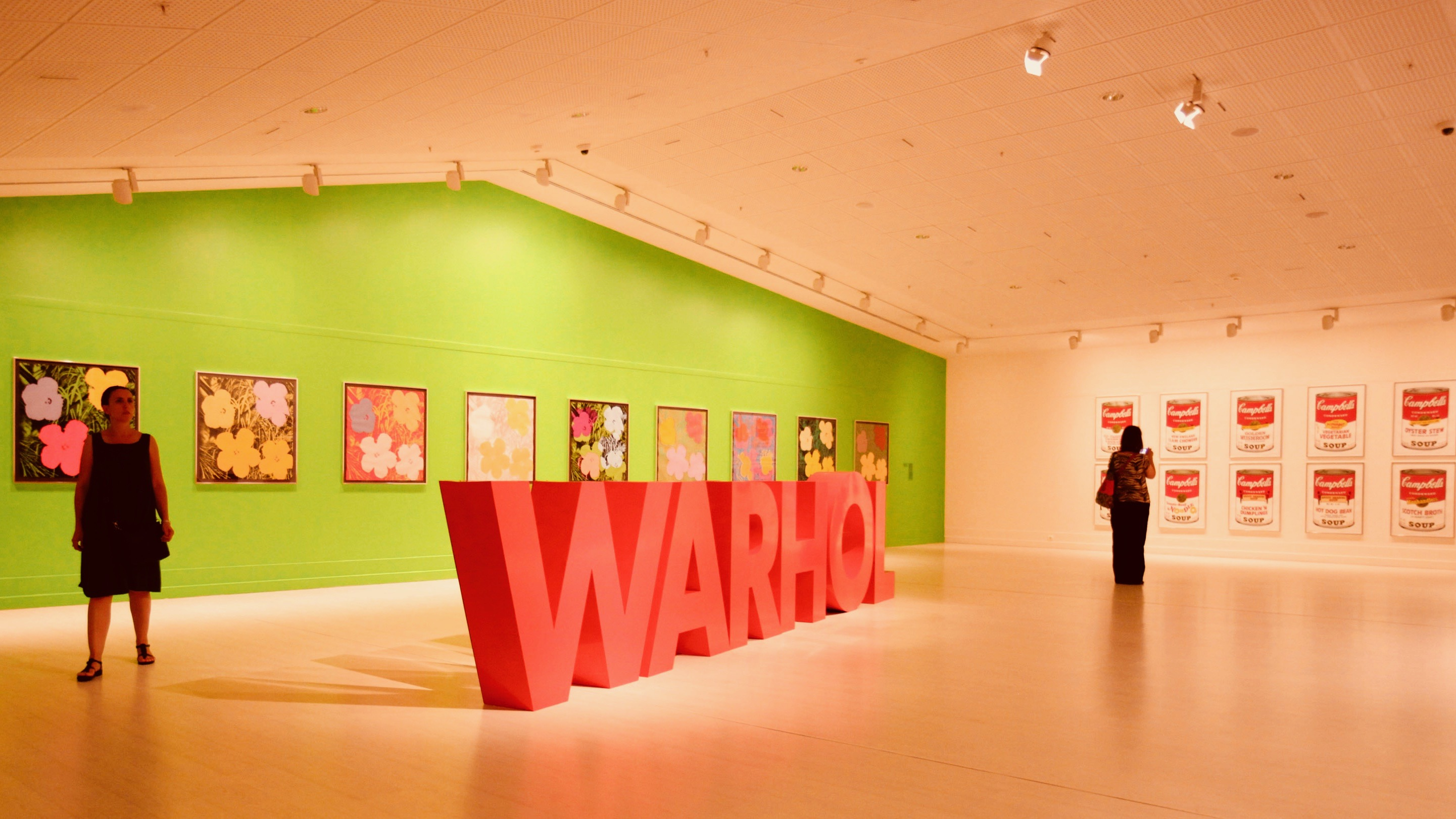 Warhol exhibit in Istanbul, Turkey.