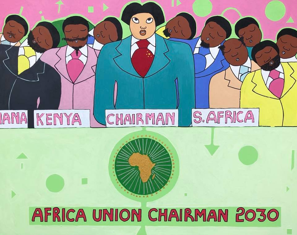 """Michael Soi """"China Loves Africa"""""""