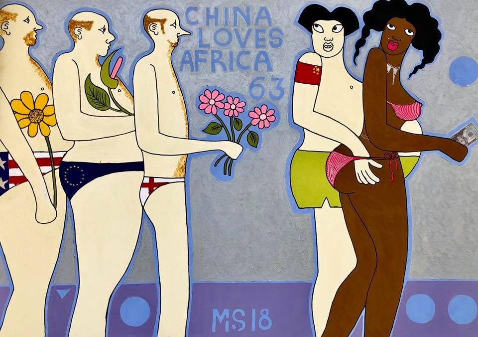 "Michael Soi ""China Loves Africa"""