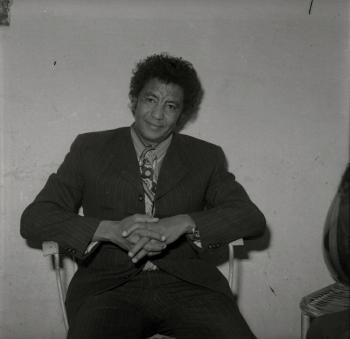 Legendary singer Mohammed Wardi poses for a photograph in Khartoum in the early 1970s.