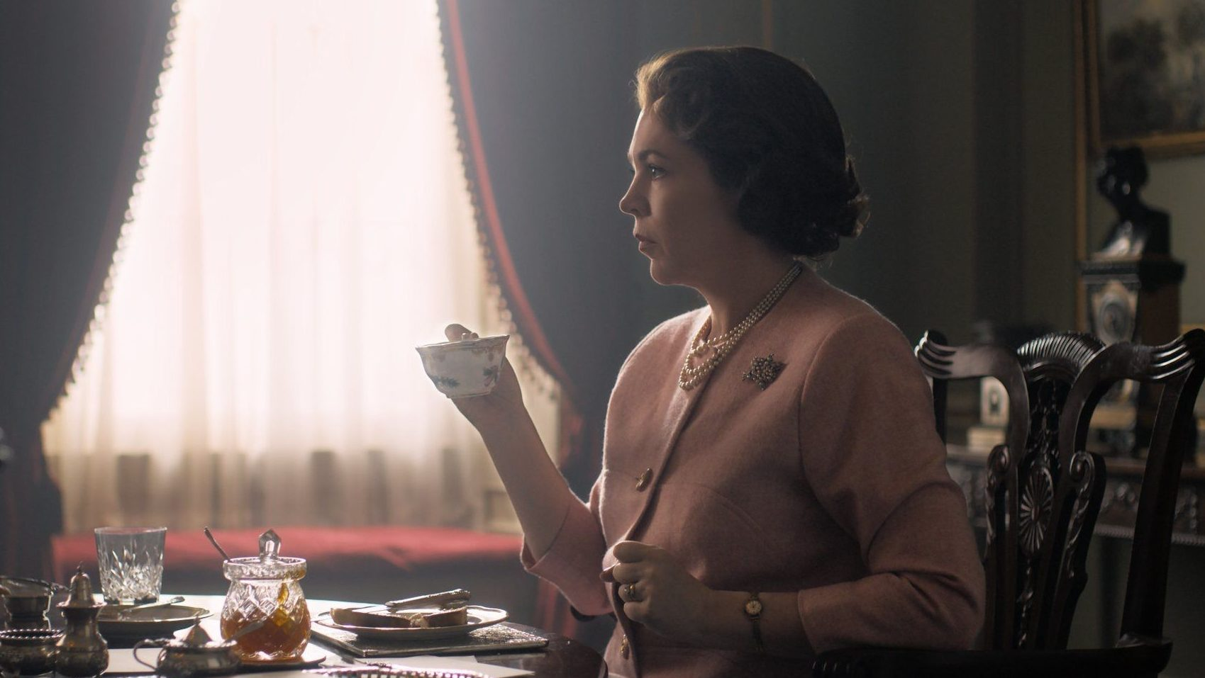 "Olivia Colman as Queen Elizabeth II in ""The Crown"" season three"